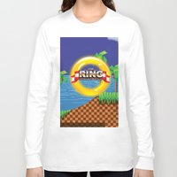 video game Long Sleeve T-shirts featuring Retro Platform Video game poster  by Nick's Emporium