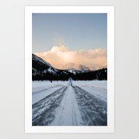 icy tracks Art Print