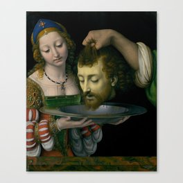 Salome with the Head of Saint John the Baptist - Andrea Solario Canvas Print