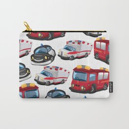 Fire, Police and Ambulance toy car pattern Carry-All Pouch