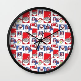 Red, White and Soup Wall Clock