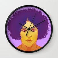 lana Wall Clocks featuring Lana by Esther Cerga