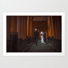 Fushimi Inari Shrine  Art Print