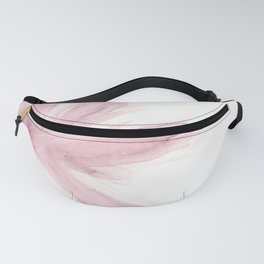 Whispy pink watercolor flower Fanny Pack