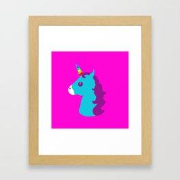 Portrait  of a Unicorn Framed Art Print