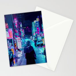 Umbrella in the City Stationery Cards