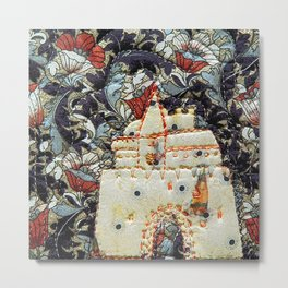 Fairy tale castle in cream Metal Print