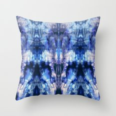 Blue Lagoon Tie-Dye Throw Pillow