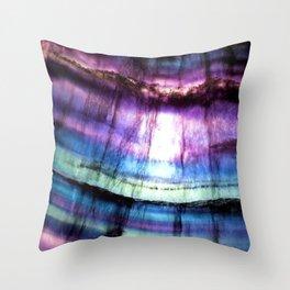 Rainbow Fluorite Throw Pillow