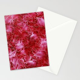 Frozen Leaves 24 Stationery Cards