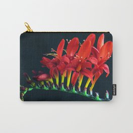 Crocosomia Lucifer Montbretia Red Floral Carry-All Pouch