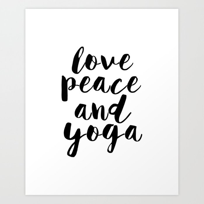 Girls Room Decor,GYM Print,Workout Poster,Love Peace And Yoga,Fitness  Decor,Typography Print, Art Print