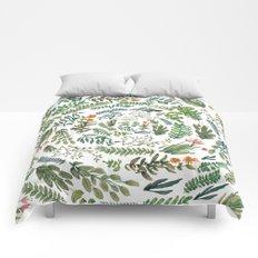 water color rotation garden Comforters