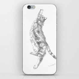 Mocha, the cat - streching iPhone Skin