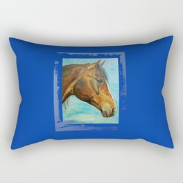 Princess Blue - Arabian Horse portrait Rectangular Pillow