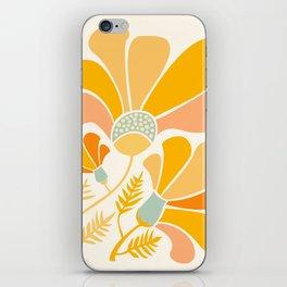 Summer Wildflowers in Golden Yellow iPhone Skin