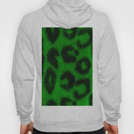 Spotted Leopard Print Green Hoody