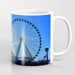 The Great Wheel in Seattle on a Blue Sky Day Coffee Mug