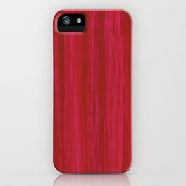 Strawberry Colored Vertical Stripes iPhone Case