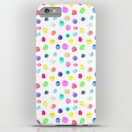 Watercolor confetti iPhone Case