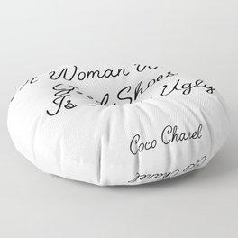 coco quote Floor Pillow