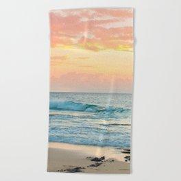 Honolulu Sunrise Beach Towel