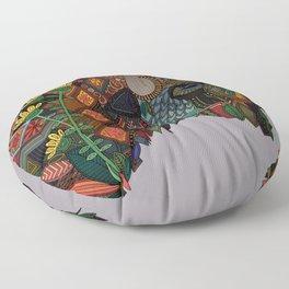 bison heather Floor Pillow