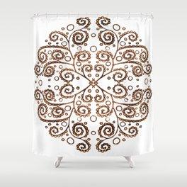 Mandala Henna Shower Curtain