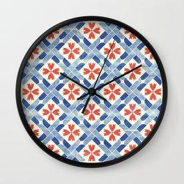 Mediterranean Mosaic Wall Clock