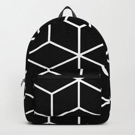 Black and White - Geometric Cube Design II Backpack