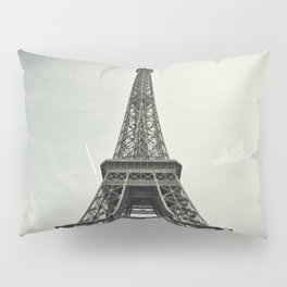 Black and White Eiffel Tower Pillow Sham