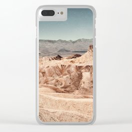 Desert Cliffs Clear iPhone Case