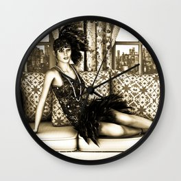 Roaring Twenties Wall Clock