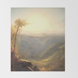 A Gorge in the Mountains by Sanford Robinson Gifford 1862 Throw Blanket