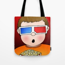 3D Popcorn Kid Tote Bag
