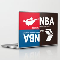 nba Laptop & iPad Skins featuring NBA. Muscles or Brain ? by CHR Design Posters