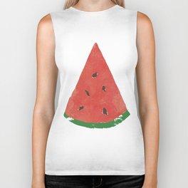 Watercolor Watermelon Biker Tank