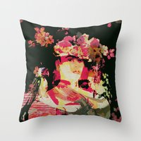 frida Throw Pillows featuring Frida by Fernando Vieira