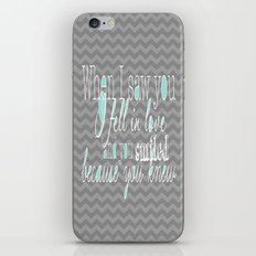 When I Saw You (Mint) iPhone & iPod Skin