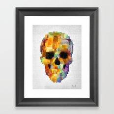 Skull Grunge Paint Framed Art Print