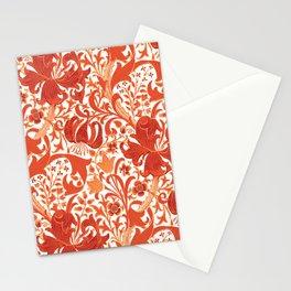 William Morris Iris and Lily, Mandarin Orange Stationery Cards