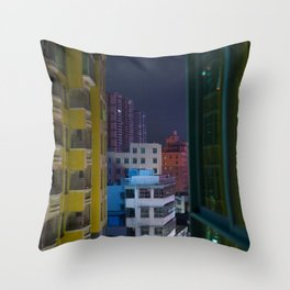 Paper Cut Out City Throw Pillow