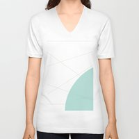 memphis V-neck T-shirts featuring Abstract Memphis Inspired by Camila Sanint