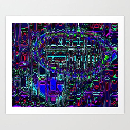 Blimp Art Print