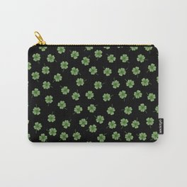 Dark Green Clover Carry-All Pouch