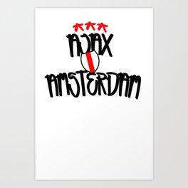 Ajax Amsterdam Graffiti street style Art Print