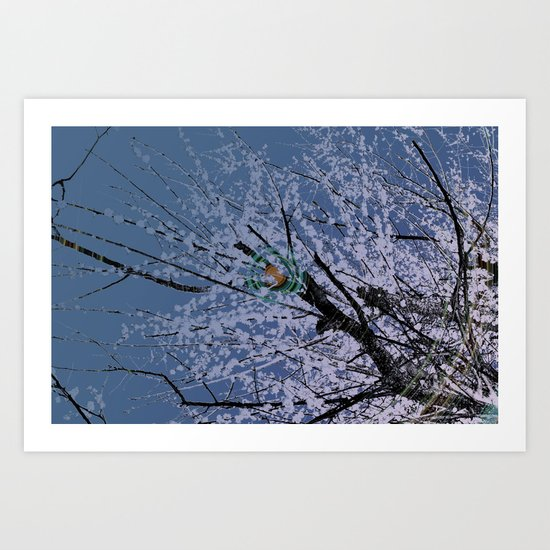 Plum tree EX Art Print