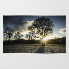 A Winters Sunset Rug