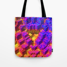 Psychedlic Pstairs Tote Bag
