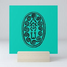Ancient Egyptian Amulet Turquoise Blue Mini Art Print